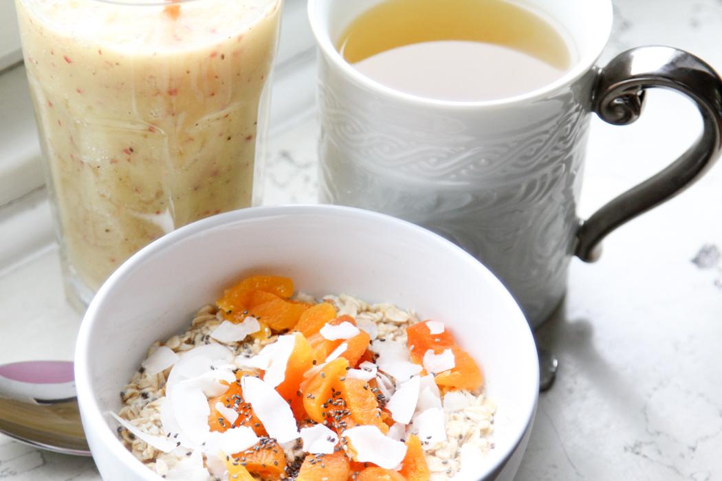 frühstück smoothie haferflocken