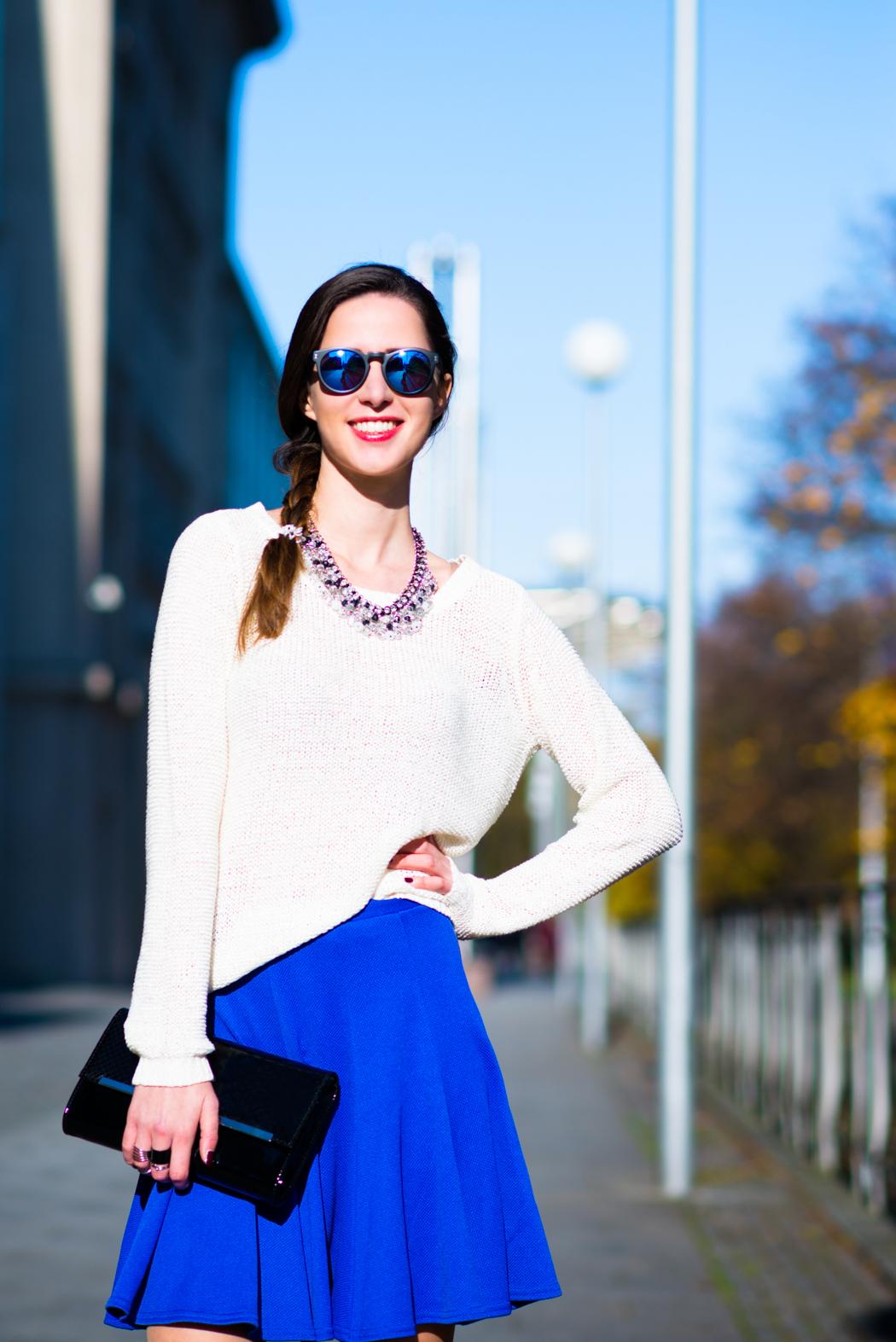 Blue-Skirt-Biker-Boots-Blugirl-Fashionblogger-Deutschland-1