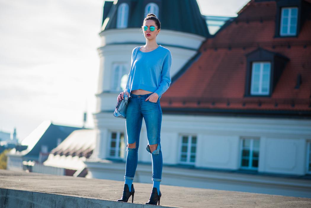 hellblau-Kurzpullover-Le-Specs-Macarena-Fashionblogger-1