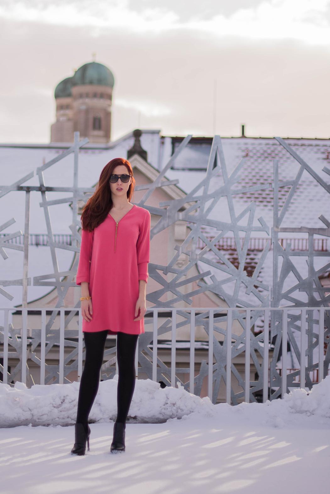 Lindarellla-Fashionblog-München-Fashionblogger-Deutschland-pinkes-Kleid-Zara-rote-Haare-Munich-1