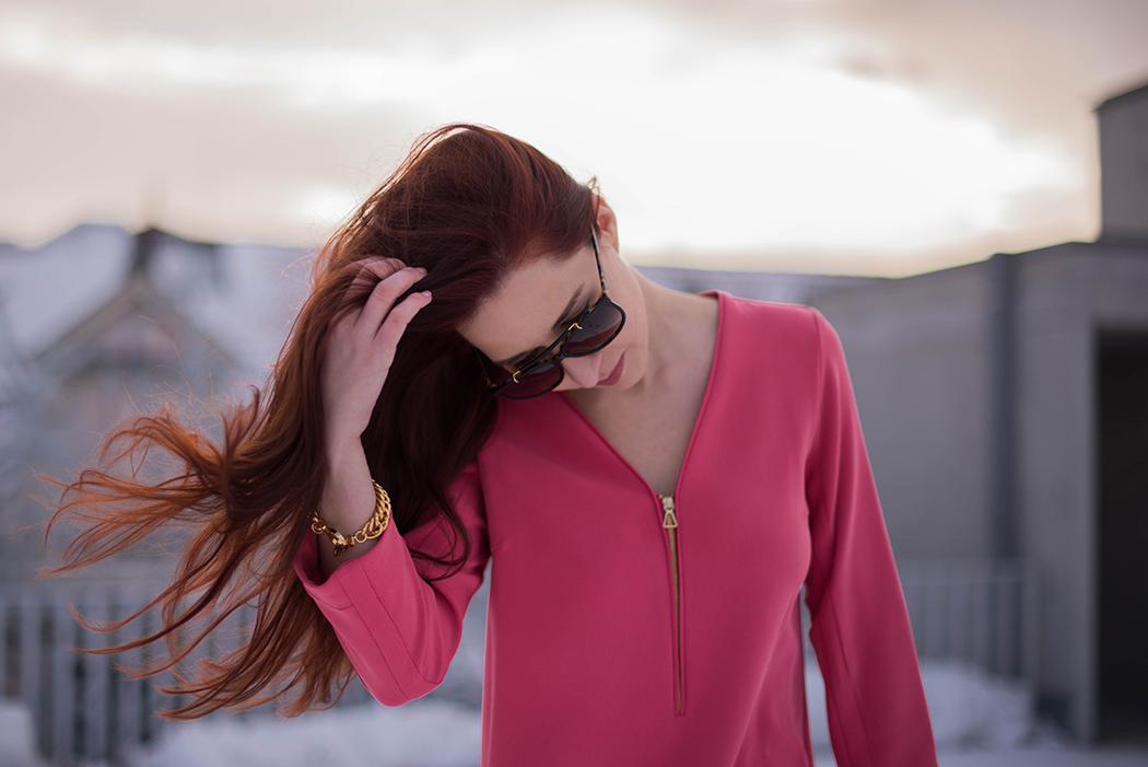 Lindarellla-Fashionblog-München-Fashionblogger-Deutschland-pinkes-Kleid-Zara-rote-Haare-Munich-3