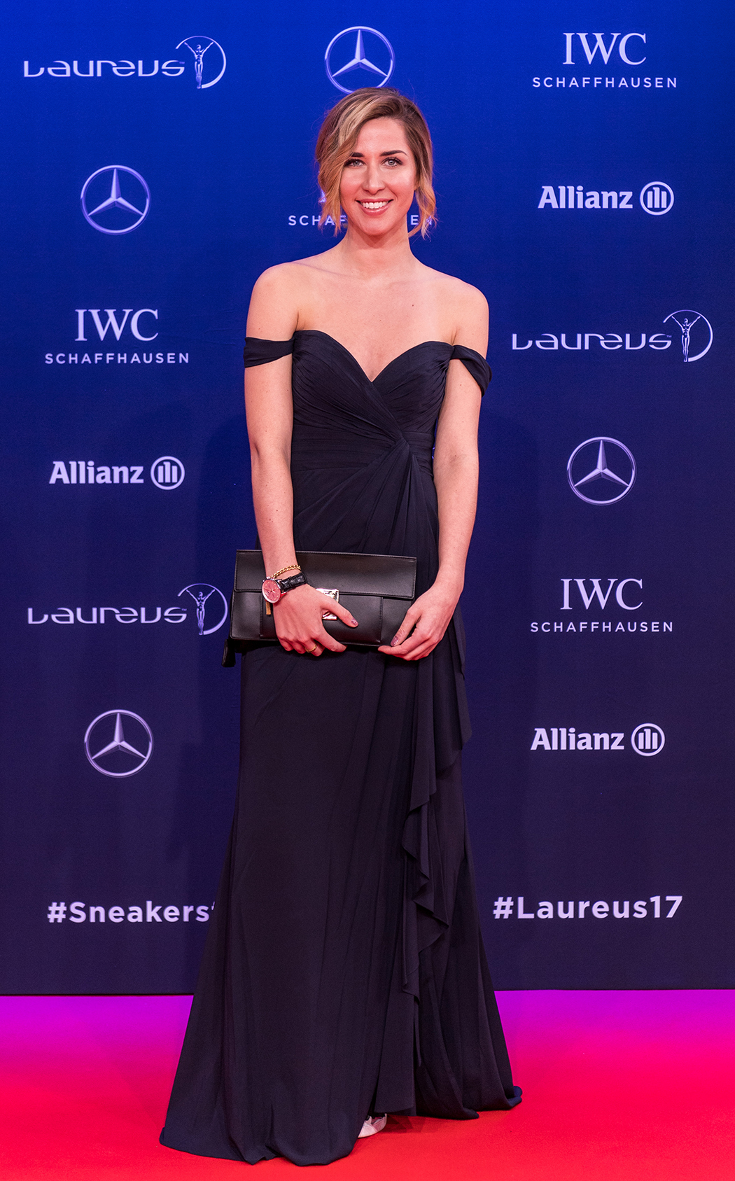 MONTE CARLO, MONACO - FEBRUARY 14: Linda Mutschlechner, fitness influencer, attends the 2017 Laureus World Sports Awards at the Salle des Etoiles, Sporting Monte Carlo on February 14, 2017 in Monaco, Monaco. The most outstanding athletes of the past year were honoured at the Laureus World Sports Awards 2017. (Photo by Lukas Schulze/IWC Schaffhausen via Getty Images )