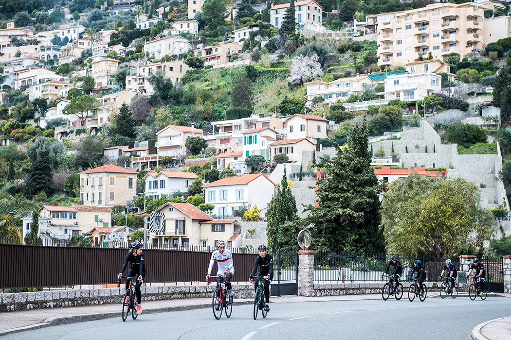 MONTE CARLO, MONACO - FEBRUARY 14: On the initiative of IWC Schaffhausen, sports celebrities and influencers embarked on a cycling tour of the French Riviera, where they discussed current charity projects, February 14, 2017 in Monte Carlo, Monaco. (Photo by Lukas Schulze/IWC Schaffhausen via Getty Images )